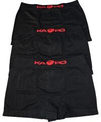 eKAPO BraveMan KAPO Black bezešvé boxerky 3ks L černá