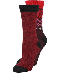 Converse 2 PACK Chaussettes black/casino red