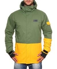 Pánská zimní bunda Funstorm Neron khaki/yellow XL