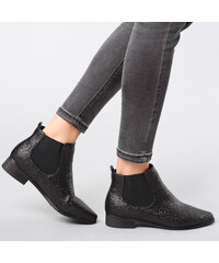 Lesara Chelsea-Boots im Glitzerlook - 35