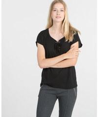 Pimkie Geripptes und geschnürtes T-Shirt
