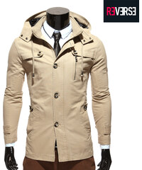 Re-Verse Trenchcoat mit Kapuze - S