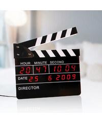 Lesara Réveil avec horloge numérique design clap de film