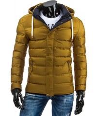 Pánská zimní bunda Kour zlatá - zlatá