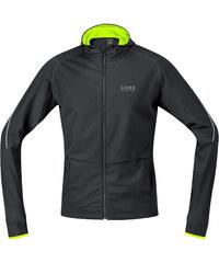 Gore Running Wear Herren Laufshirt Essential Hoody Langarm schwarz/neongelb