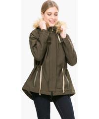 Desigual Dámský kabát Black 4 Caqui 67E29D8 4002