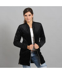 Urban Classics Ladies Long Velvet Jacket černá