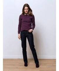 Jeans Femme Coton/élasthanne Coupe Straight Somewhere, Couleur Black Indigo