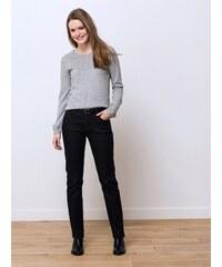 Jeans Femme Coton/élasthanne Coupe Straight Somewhere, Couleur Noir