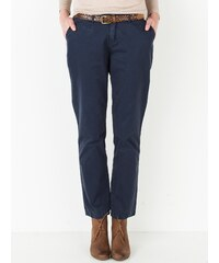 Pantalon Chino Femme Coton Twill Somewhere, Couleur Marine