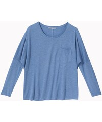 Tee-shirt Femme Viscose/laine Somewhere, Couleur Bleu Chine