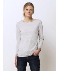 T-shirt Femme Coton/cachemire Manches 7/8ème Somewhere, Couleur Gris Clair Chine