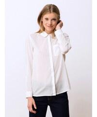 Chemise Femme Voile De Coton Col Claudine Somewhere, Couleur Blanc Casse
