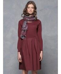 Robe Bi-matières Somewhere, Couleur Bordeaux