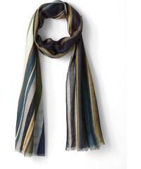 Etole Femme Modal Rayures Somewhere, Couleur Vert / Bleu