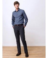 Pantalon Chino Homme Coton Pied De Puce Somewhere, Couleur Carbone/noir