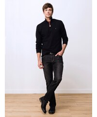 Jeans Homme Coton/élasthanne Straight Somewhere, Couleur Black