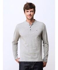 T-shirt Homme Coton Col Mao Somewhere, Couleur Zinc Chine