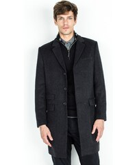 Manteau Homme Drap De Laine Chevrons Droit Somewhere, Couleur Anthracite