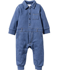 bpc bonprix collection Grenouillère bébé en matière sweat bleu enfant - bonprix