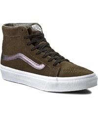 Sneakersy VANS - Sk8-Hi Slim Cutout VN004KZJRG (Perf Suede) Tarmac/True
