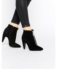Bronx - Wildleder-Ankle-Boots mit Absatz - Schwarz