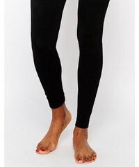 Plush - Collants sans pieds doublés de polaire - Noir