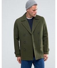 ASOS - Mantel aus Wollmischung in Khaki - Grün
