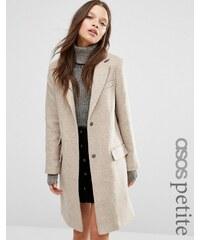 ASOS PETITE - Manteau cintré en laine mélangée avec poches - Noir