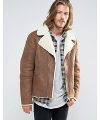 ASOS - Perfecto imitation peau de mouton - Marron - Marron