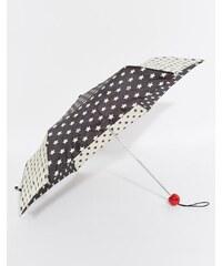 Lulu Guinness - Superslim 2 - Regenschirm mit Sternenmuster - Schwarz
