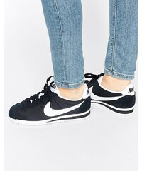 Nike - Cortez - Baskets classiques - Noir et blanc - Noir