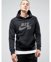 Nike SB - 833903-010 - Sweat à capuche avec emblème motif pois - Noir - Noir