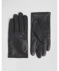 ASOS - Gants en cuir unis pour écran tactile - Noir