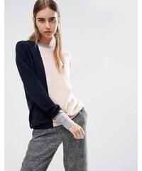 ASOS WHITE - Pullover aus 100% Kaschmir mit Rundhalsausschnitt und Farbblockdesign - Mehrfarbig