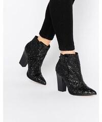 Little Mistress - Harlow - Glitzernde Ankle Boots - Schwarz