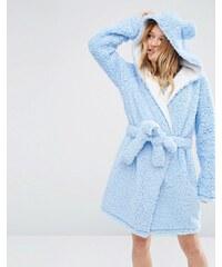 ASOS - Cloud - Flauschige Robe mit Ohren - Violett