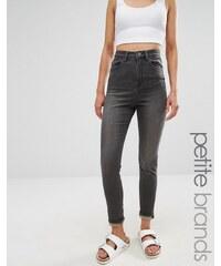 Waven Petite - Anika - Jean skinny taille haute - Gris