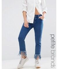 Waven Petite - Jean skinny à ourlets très effilochés - Bleu