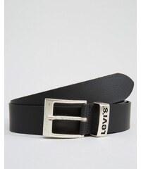 Levis Levi's - Ceinture en cuir avec passant orné du logo - Noir - Noir