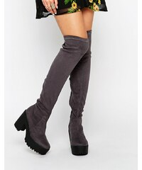 Truffle Collection - Nora - Overknee-Stiefel - Grau