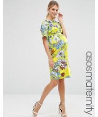 ASOS Maternity - Robe fourreau à imprimé fleuri vif - Multi