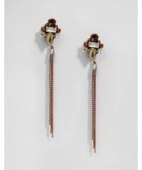 Nali - Pendants d'oreilles chaînes - Doré - Doré