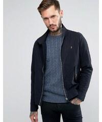 Farah - Harrington-Jacke aus schwarzer Baumwolle - Schwarz