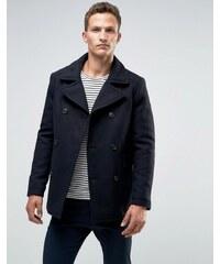 Selected Homme - Cabanjacke aus Wolle - Marineblau