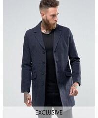 Only & Sons - Eleganter Wollmantel - Marineblau