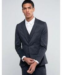 Selected Homme - Veste de costume ajustée à carreaux flanelle ton sur ton - Gris