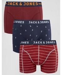 Jack & Jones - Lot de 3 boxers - Multi