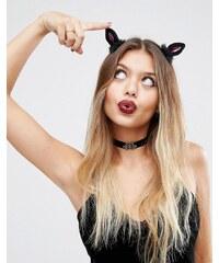 ASOS - Halloween - Barrettes à motif oreille de chat - Multi