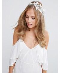 ASOS - Wedding - Haarkamm mit Häkelspitze - Cremeweiß